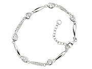 Teardrop Bracelet with Clear CZ