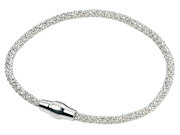 Sterling Silver Diamond Bead Chain PopcornBracelet