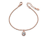 Fiorelli Ladies Rose Gold Swarovski Elements Flower Bead Bracelet