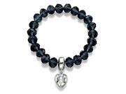 Fiorelli Ladies Montana Bead Bracelet with Clear Swarovski Elements Crystal Heart