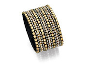Fiorelli Ladies Gold and Brown Multi Crystal Cuff