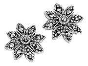 Daisy Marcasite Stud Earrings