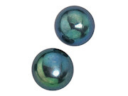 Black Pearl Stud Earrings 8mm