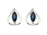 Montana Crystal Teardrop Stud Earrings