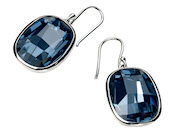 Graphic Stone Earring In Denim Blue Swarovski