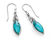 Leaf Shape Earring with Blue howlite