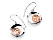 Rose Gold Plate Spiral Drop Earring