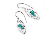 Marquise Drop Earring with Imitation Turquoise