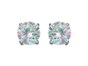 Rainbow Cz 8mm Stud Earrings