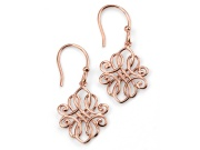 Ladies Rose Gold Plated Filigree Earring