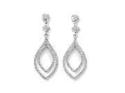 Ladies Double Clear CZ Lantern Shape Earring