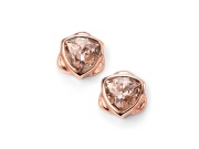 Ladies Rose Gold Plated Vintage Rose Swarovski Crystal Stud Earring