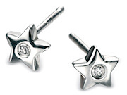 D For Diamond Girls Star Stud Earrings