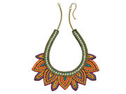 Fiorelli Ladies Tribal Beaded Bib Necklace