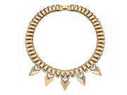 Fiorelli Ladies Gold Statement Necklace with Triangular Crystals