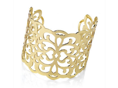 Golden Scroll Cuff Bangle