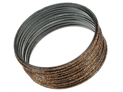 Bronze Narrow Glitter Bangles