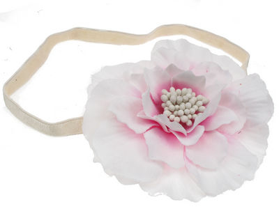 Kelly White Flower Headband