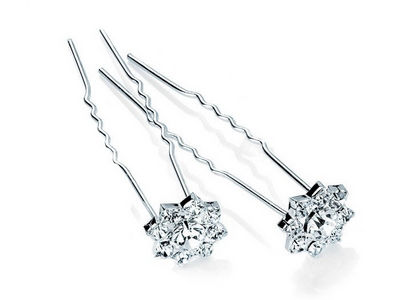 Pair of Crystal Cluster Hair Pins