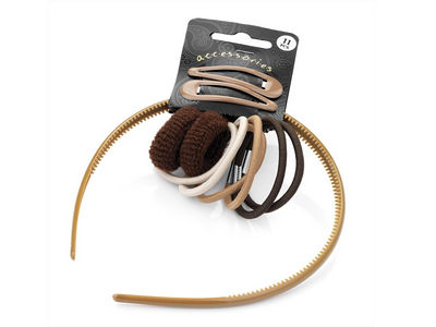 Light Brown School Head Band Set