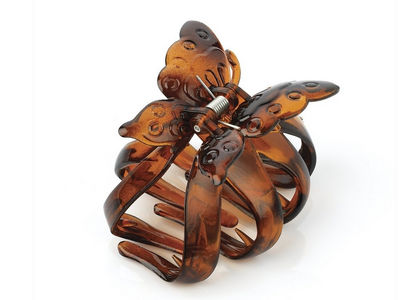 Tortoise Shell Butterfly Hair Clamp Clip