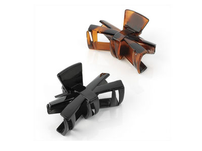 Black Brown Bow Hair Claw Clamp Clips