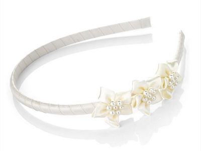 Cream Pearl Flower Head Band