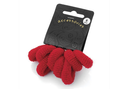 Red Soft Ponio Donut Hair Bobbles