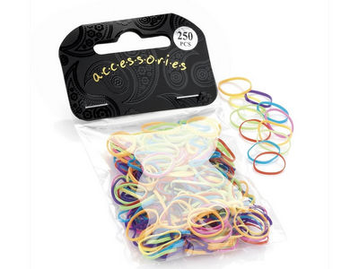 Bright Coloured Mini Elastic Bands for Braids or Cornrows