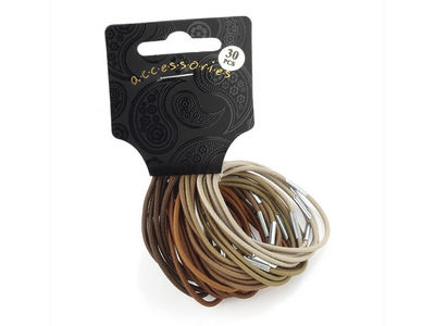 Brown Tone Thin Hair Elastic Set