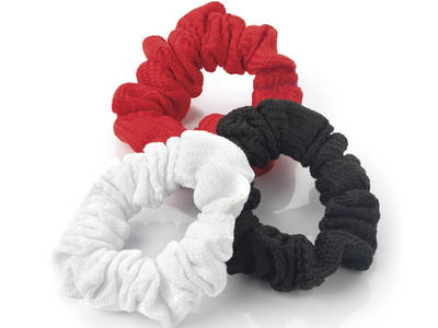 Three Pack Classic Woven Hair Scrunchie Bobbles