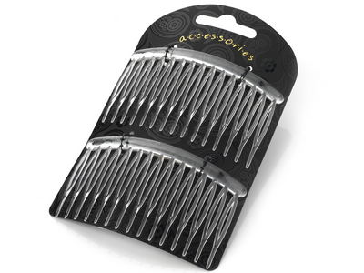 8cm Curved Clear Side Hair Combs