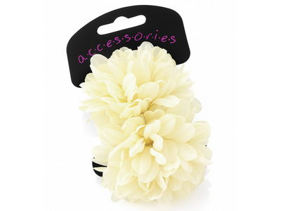 Large Cream Flower Hair Ponios
