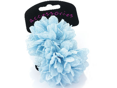 Large Light Blue Flower Ponio Elastics
