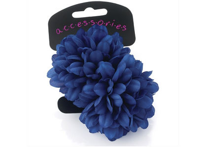 Large Royal Blue Flower Ponio Elastics