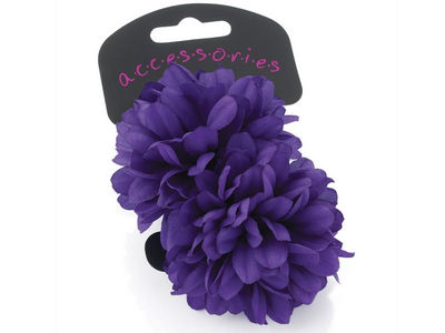 Large Purple Flower Ponio Elastics