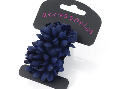 Navy Blue Mini Flower Hair Ponios