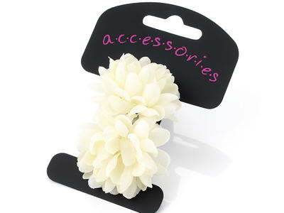 Cream Mini Flower Hair Ponios