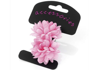 Pink Mini Flower Ponio Hair Elastics
