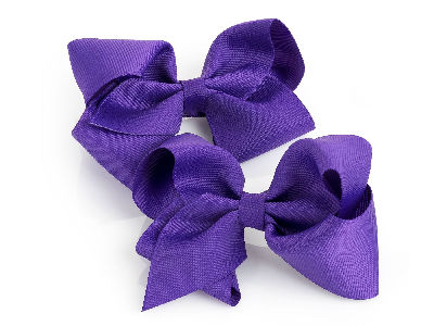 Two piece Purple hair bow on clip set