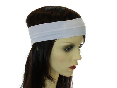 White Wide Headband