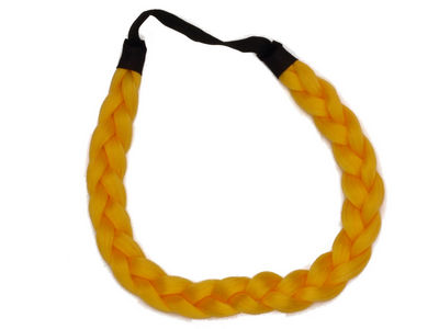 Yellow Plaited Head Band