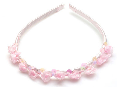 Pink Rosebud Alice Band