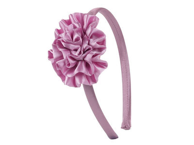 Pink Ruffle Alice Band