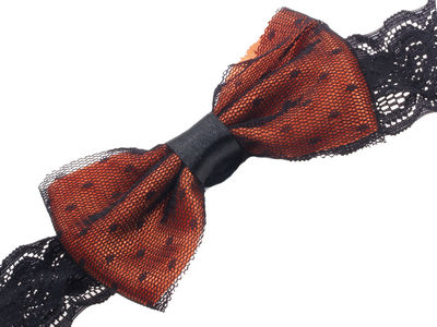 Orange Bow with Net Head Band