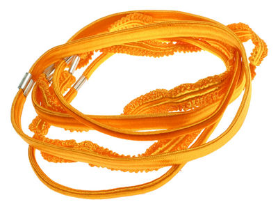 Bright Crinkle Headband Hair Elastics - Orange