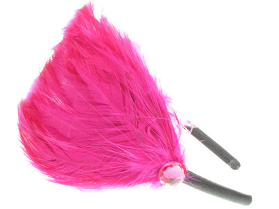 Hot Pink Feather Plume Fascinator