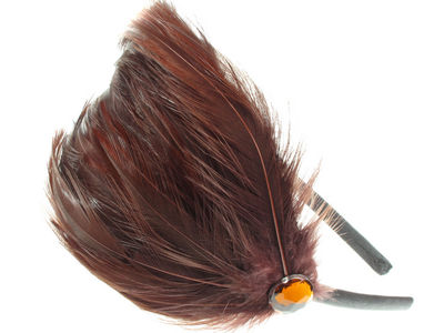 Chocolate Feather Plume Fascinator