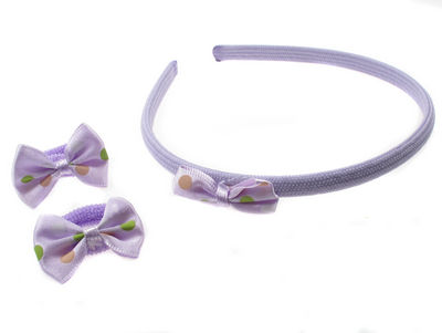 Lilac Bow Alice Band Set