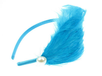 Turquoise Feather Bead Plume Fascinator